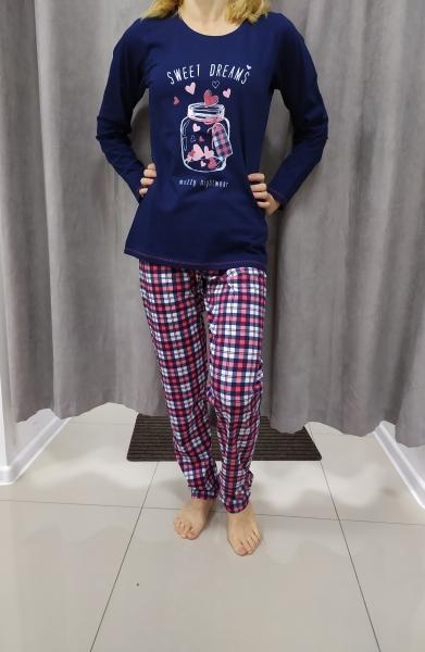 Modro-ružové pyžamo PAULA