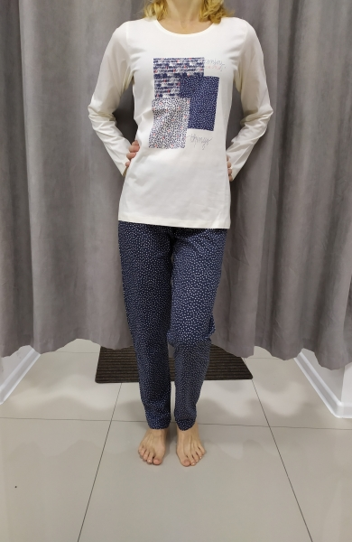 Bielo-modré pyžamo AMELIA