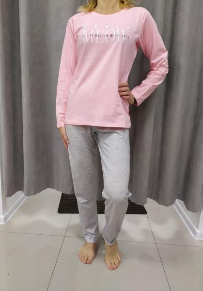 Sivo-ružové pyžamo LARA