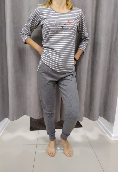Sivé pyžamo MAGDALENA