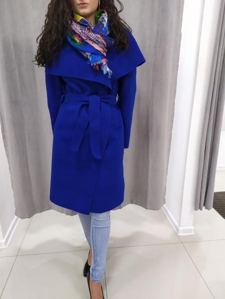 Modrý jarný plášť LAURA