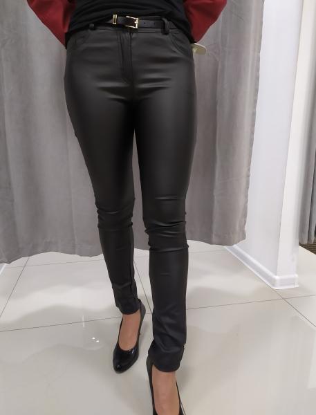 Čierne koženkové nohavice LUCIA