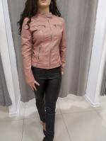 Ružová koženková bunda RILEY