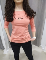 Ružovo-oranžové tričko LENA