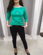 Tyrkysové tričko LENA