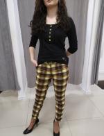 Žlto-ružové nohavice EMILIA