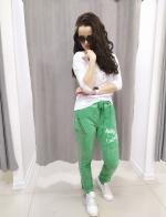 Zelené nohavice LUCRETIA